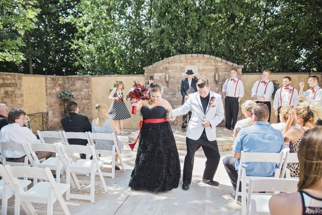 Red & Black Rockabilly Wedding (7)