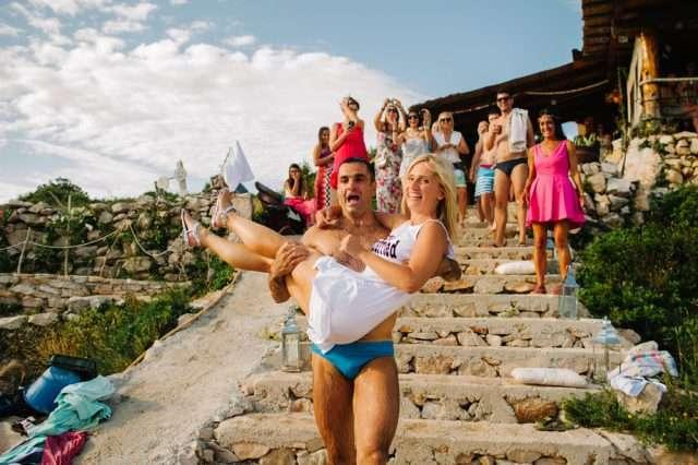 beach party boat wedding (43)