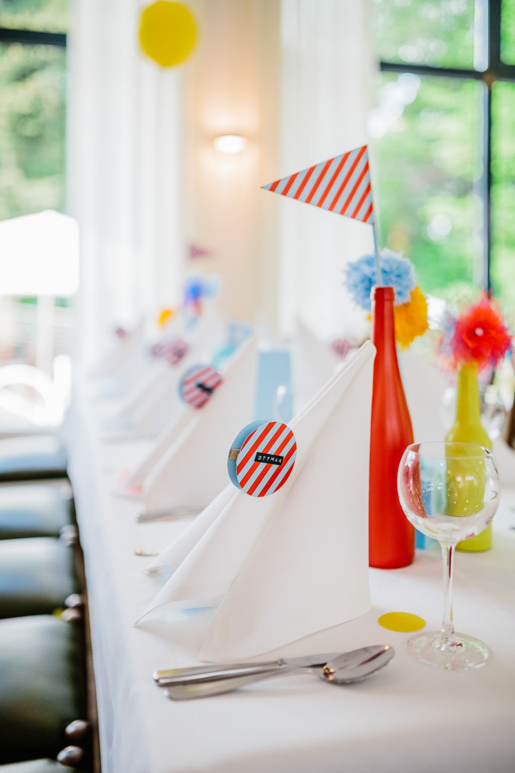 Colourful paper craft wedding at home rock n roll bride for Paper craft home