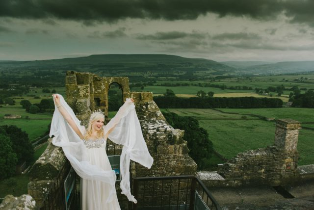 Medieval Castle Wedding With Owls Faeries Spray Painted