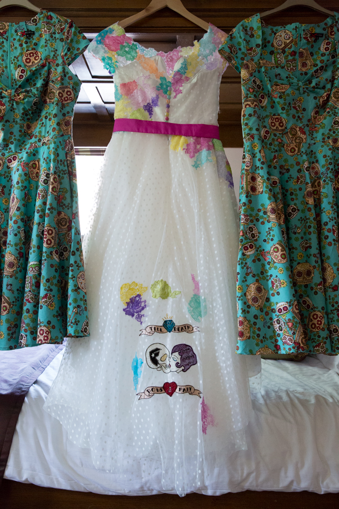Sugar Skull Wedding Dress 1 Ideal colourful sugar skull dress