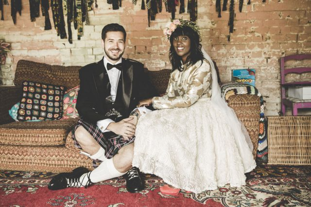 Colourful Wedding Inspired by African Prints and Scotland (26)