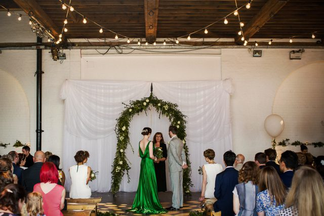 Green Dress Wedding at Trinity Buoy Wharf - Matt Parry Photography (16)
