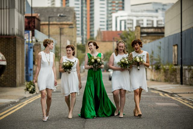 Green Dress Wedding at Trinity Buoy Wharf - Matt Parry Photography (24)