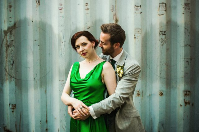 Green Dress Wedding at Trinity Buoy Wharf - Matt Parry Photography (45)