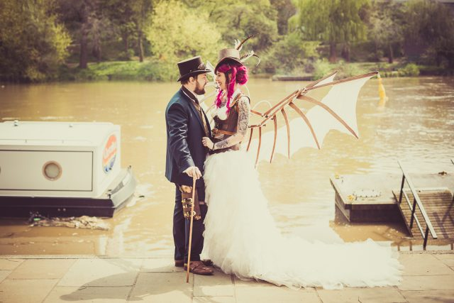 Just loved yesterday's Steampunk bride and groom,  Jo-Anne and I