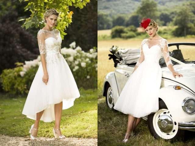 Win a retro inspired tea length wedding dress from true for Rock n roll wedding dress