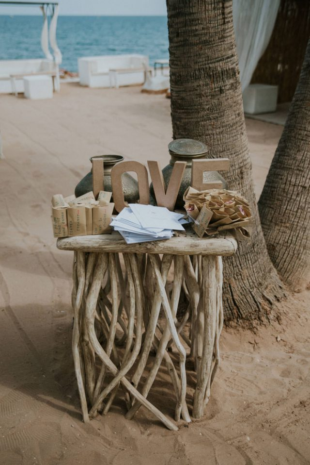 Chilled Beach Wedding Inspired by Bougenvillia (34)