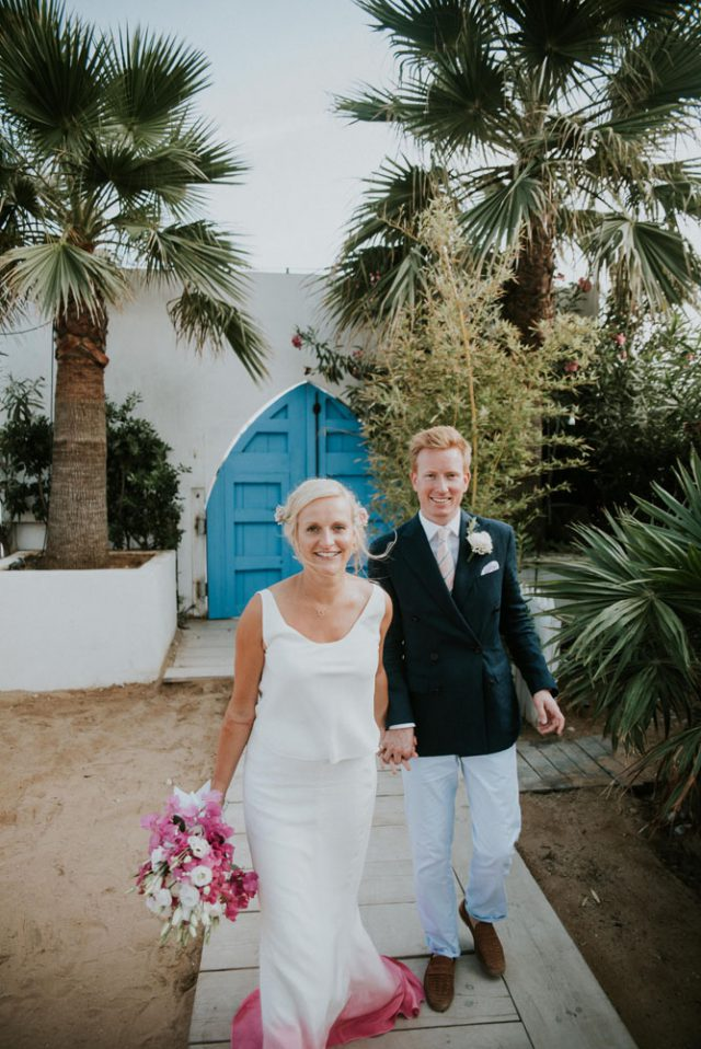 Chilled Beach Wedding Inspired by Bougenvillia (47)