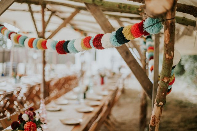 Indoor Outdoor DIY BBQ Festival-Inspired Wedding (23)