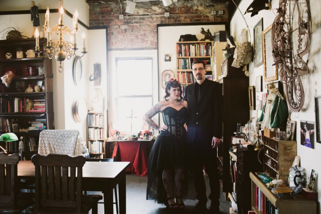 Gothic Wedding at the Morbid Anatomy Museum (21)