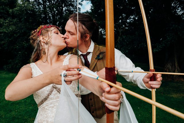Bohemian Medieval Wedding with Archery & Snail Racing (21)