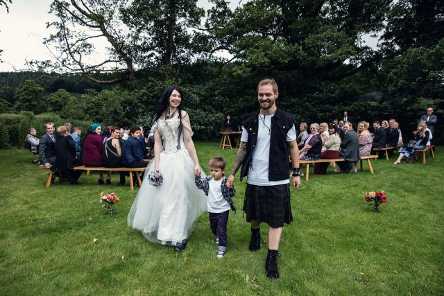 Metal & Pagan Handfasting Wedding in Wales (17)