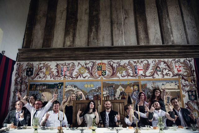 Metal & Pagan Handfasting Wedding in Wales (24)