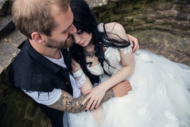 Metal & Pagan Handfasting Wedding in Wales (32)