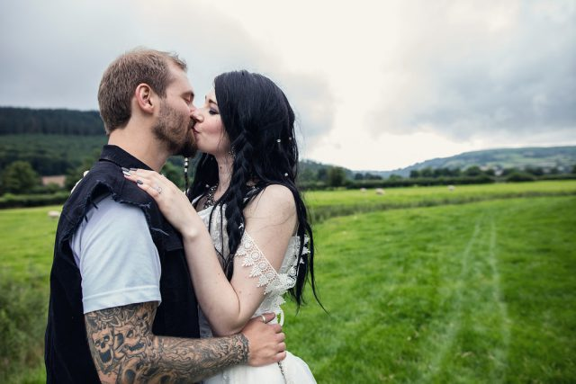 Metal & Pagan Handfasting Wedding in Wales (36)