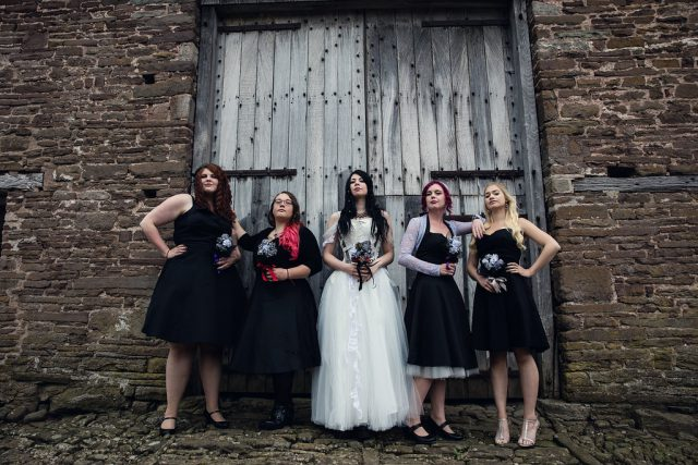 Metal & Pagan Handfasting Wedding in Wales (6)