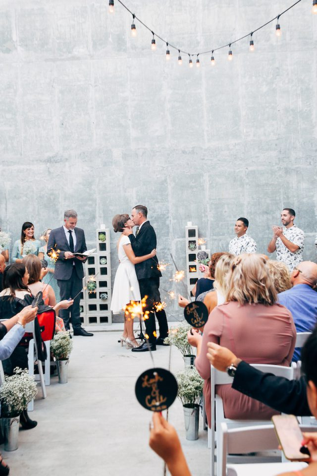 Modern Industrial Wedding on Long Beach (29)