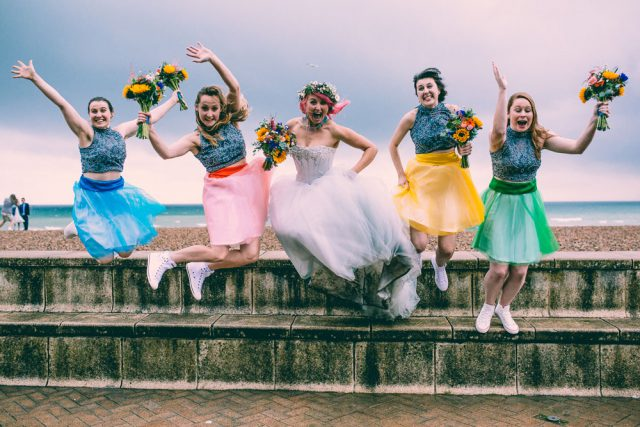 Colourful & Fun Brighton Wedding with a Christian Ceremony (49)