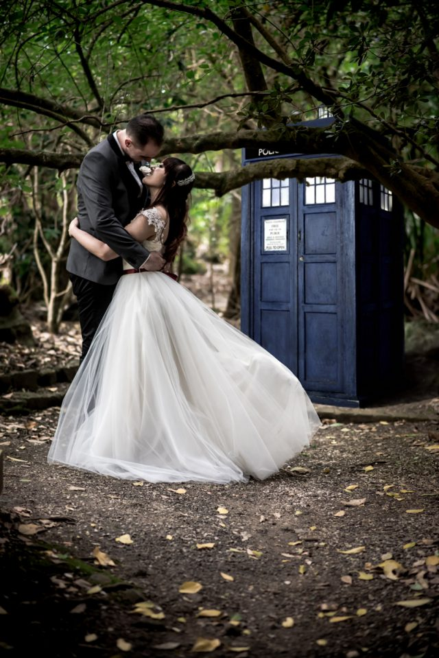 Doctor who harry potter geeky fandom wedding rock n for Doctor who themed wedding dresses