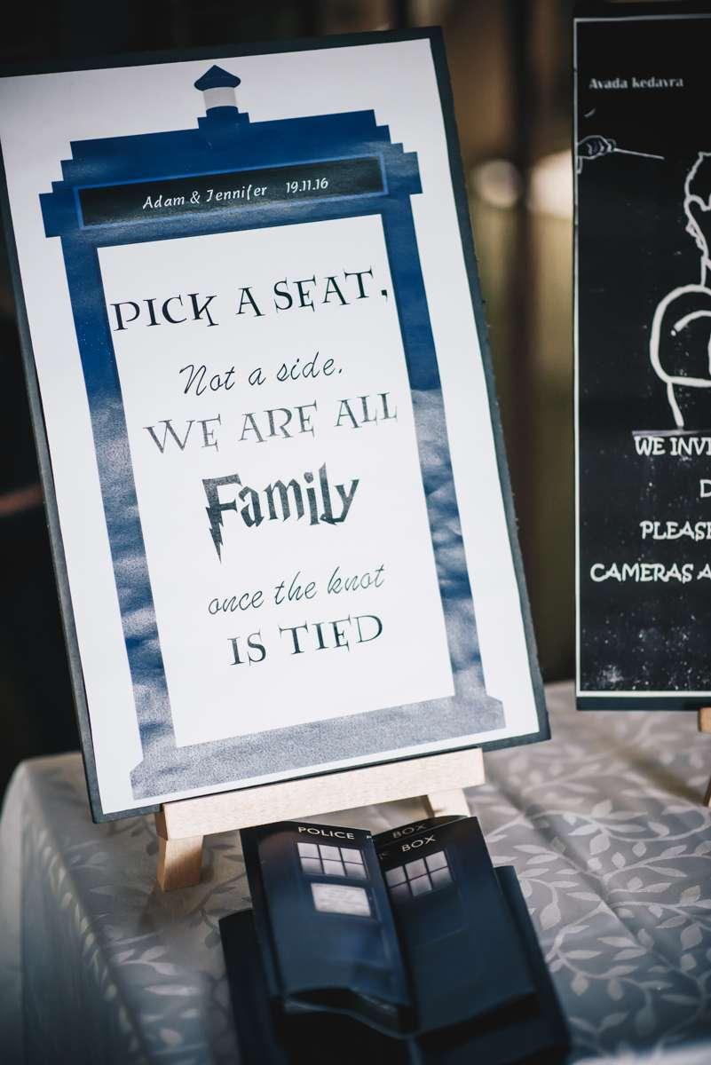 Doctor Who & Harry Potter Geeky Fandom Wedding · Rock n Roll Bride