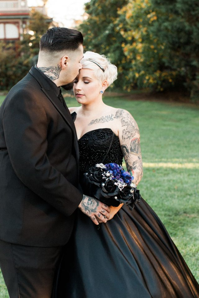 Romantic Gothic Addams Family Inspired Wedding 183 Rock N