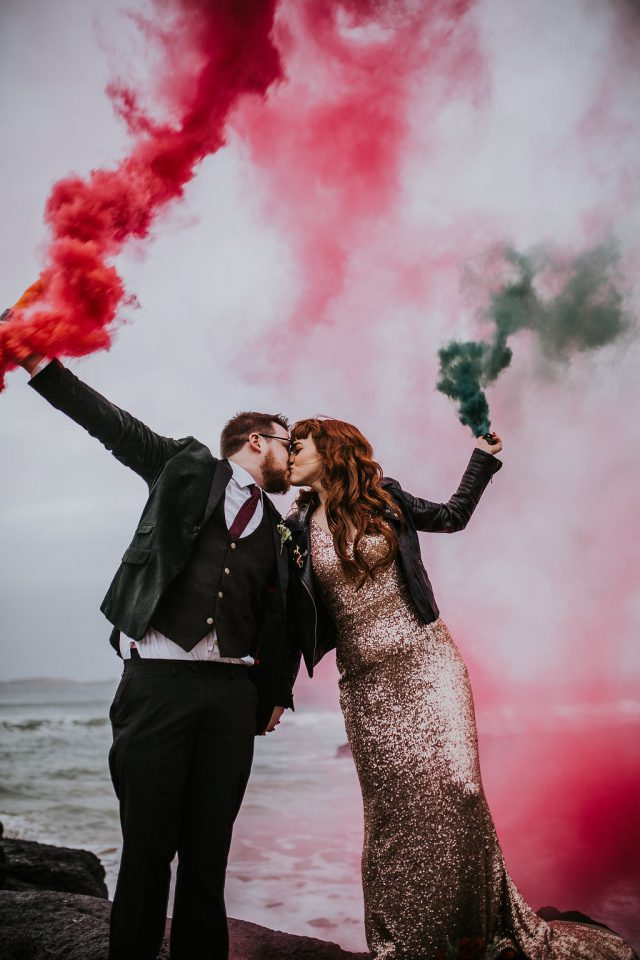 Sparkle & Smoke Bombs: A New Year's Eve Wedding in Northern Ireland