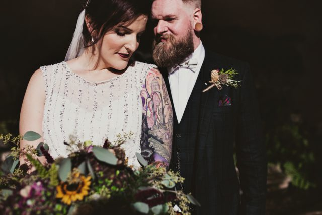 Woodland luxe wedding in october rock n roll bride emma and ajays october wedding had a woodland luxe theme they wanted the day to feel cosy and for nature to be everywhere they used autumnal accents junglespirit Gallery