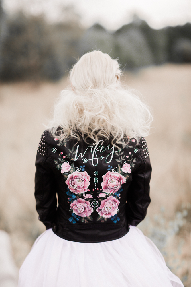 The Painted Leather Jacket 183 Rock N Roll Bride