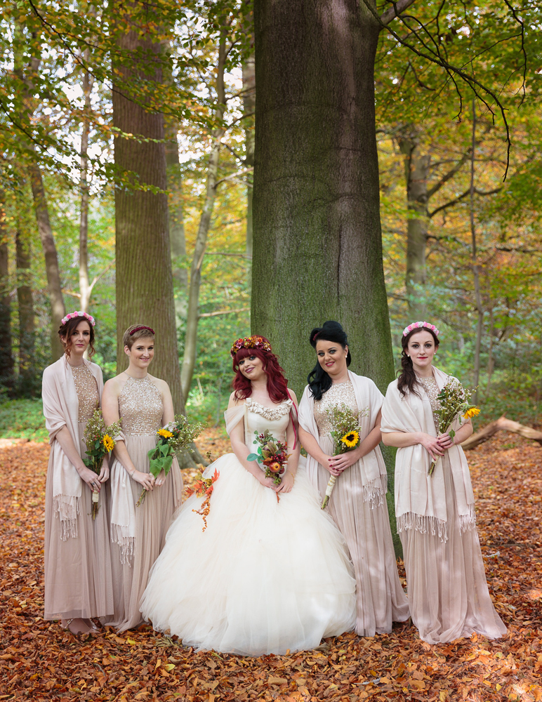 Autumnal Wedding with a Woodland Fairy Bride · Rock n Roll Bride