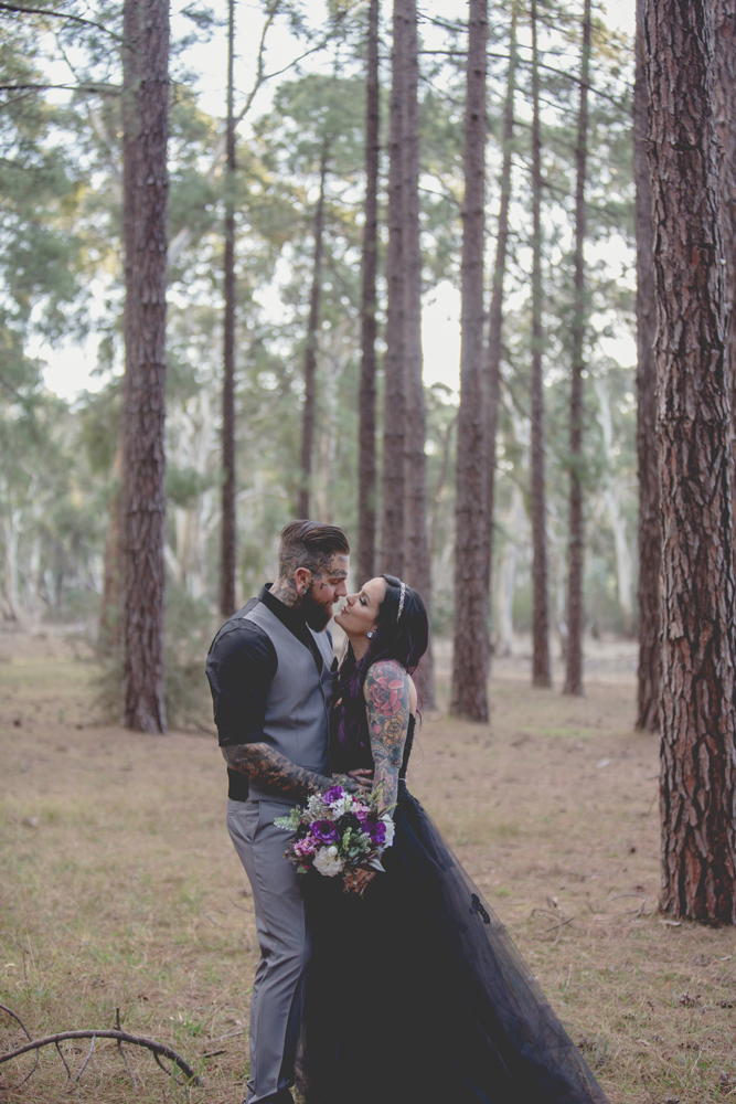 Budget Friendly Forest Wedding With Their Reception At Home Rock N