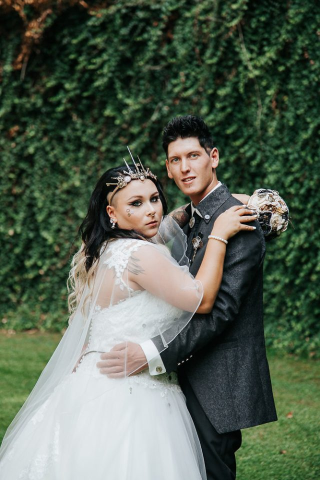 Sarah And Benjamin S Austrian Wedding Was Inspired By The 19th Century Science Fiction Theme Of Steampunk Day Held At Schloß Weinberg