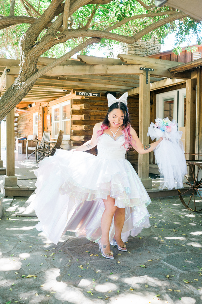 cfd7bb624d1d Kawaii, Pastel and Disney Themed Wedding (15) · Rock n Roll Bride