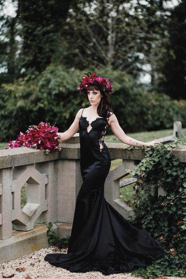 Elegant Gothic Castle Wedding (with a Black Wedding Dress!) · Rock n ...