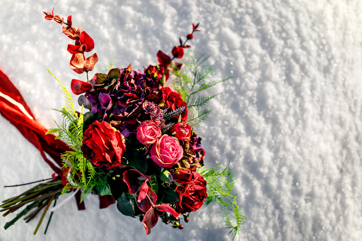 Bright Beautiful Fire And Ice Themed Iceland Wedding Shoot Rock