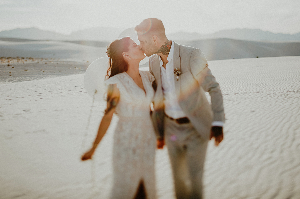 Edgy White Sands New Mexico Desert Elopement · Rock n Roll Bride
