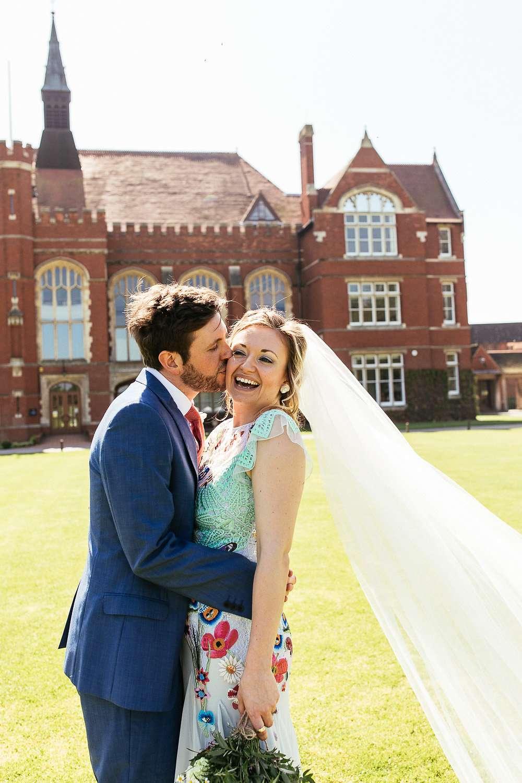 Blue Wedding Dress Rock N Roll Bride
