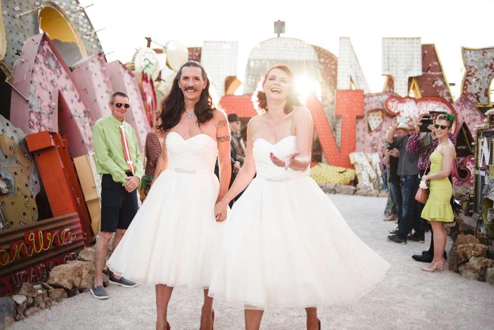 Cross Dressing Las Vegas Wedding With The Bride Groom In The Same