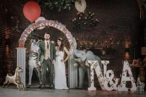 Enchanted Circus Themed Wedding with Alpacas!