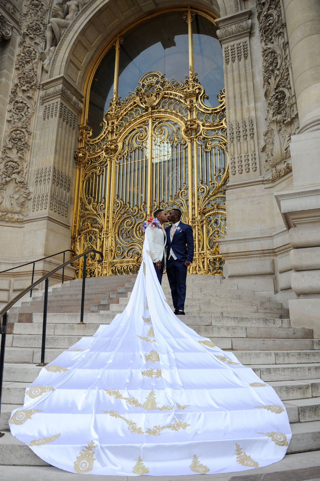 A Royal Fairy Tale Wedding In Paris With A Groom In A Cape