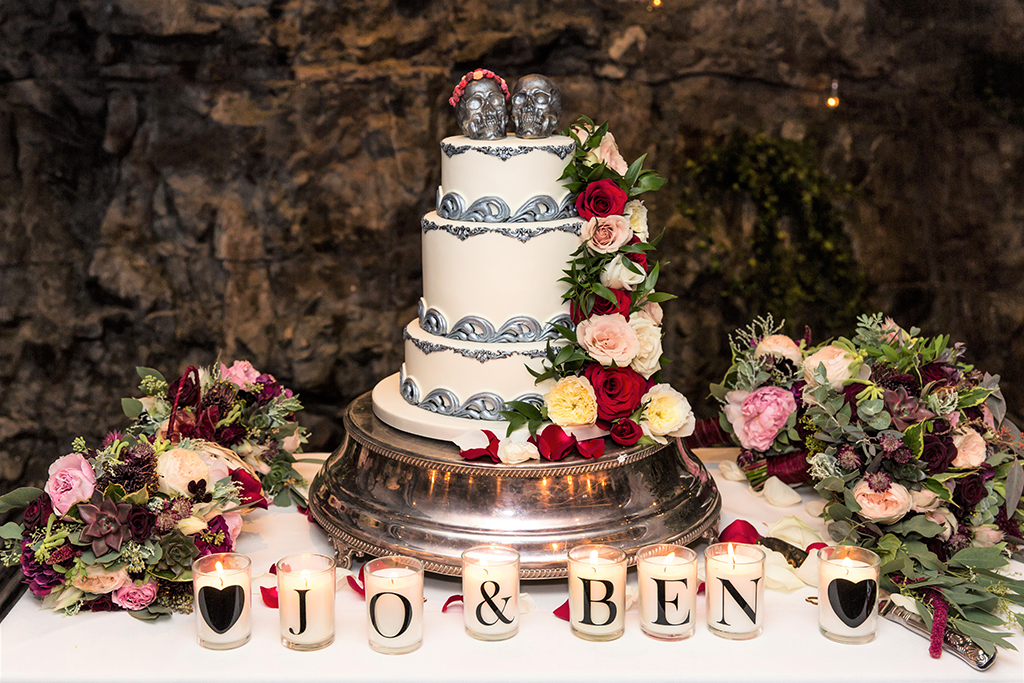 Moody Autumnal Wedding With Skulls And Flowers Rock N Roll