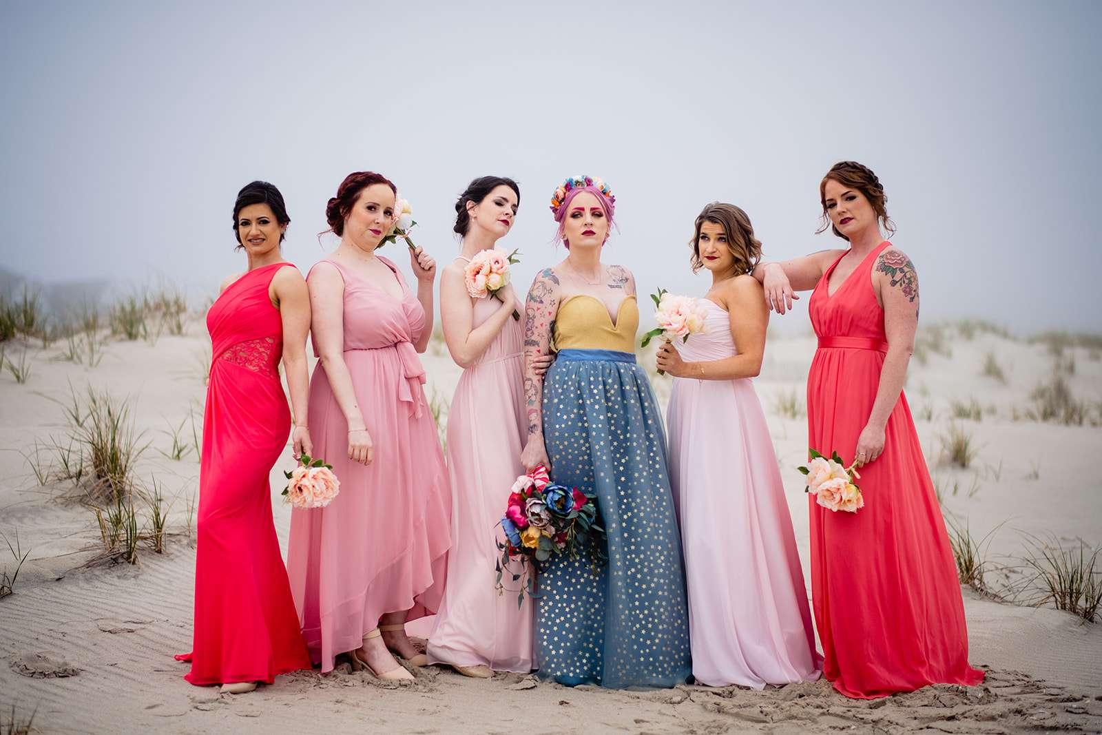 Colourful \u0026 Casual, New Jersey Beach Wedding with Hawaiian