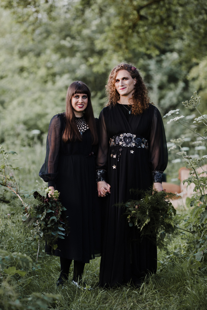 Gothic Pagan Handfasting In The Woods Rock N Roll Bride