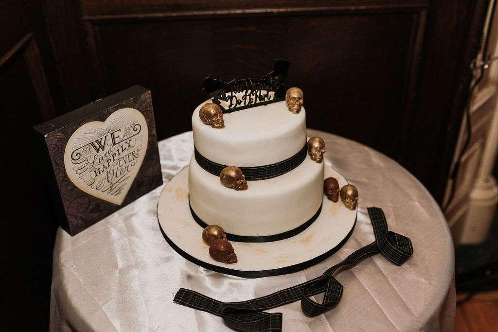 Til Death Do Us Part Skull Themed Tattoo Artists Wedding