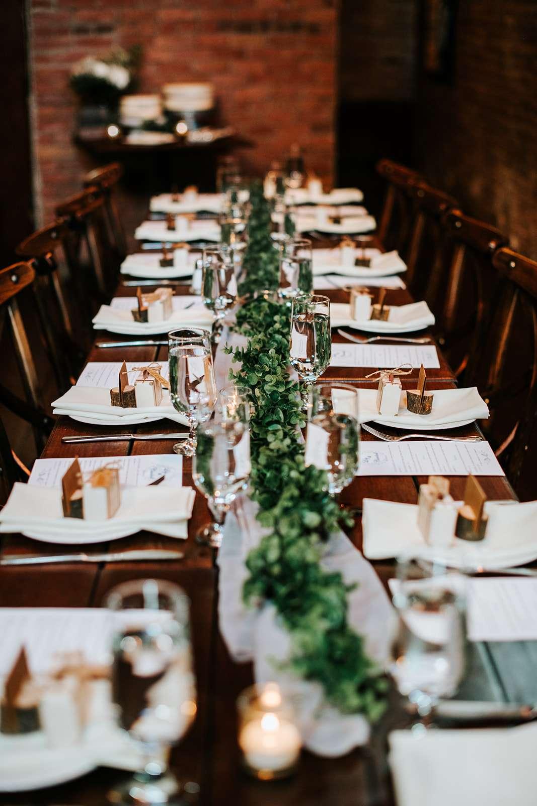 Simple Intimate Rustic Romantic Brooklyn Restaurant Wedding Rock N Roll Bride